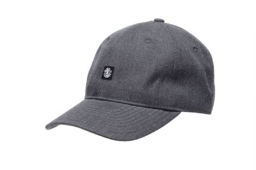 ELEMENT MENS BASEBALL CAP.FLUKY DAD UNSTRUCTURED GREY STRETCH CURVED HAT 8W 2 5